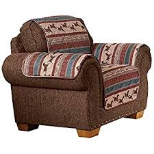 Quilted Recliner Covers Amazon Com Woodland Lodge Furniture Protector Cover Brown Chair
