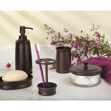 Bathroom Canisters Amazon Com Interdesign Olivia Bathroom Vanity Glass Apothecary