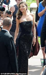 miranda kerr showcases supermodel figure in a glitzy at
