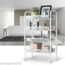 kitchen trolley island 4 tier metal rolling kitchen trolley cart island wire rack shelf