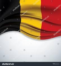 Belgia Flag Vector Belgium Flag Blowing Wind On Stock Vector 415281250