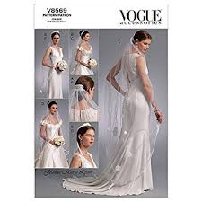 vogue wedding dress patterns vogue bridal pattern 8569 headpieces tiara and bridal