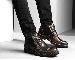 Comfortable Casual Boots British Style Genuine Leather Winter Warm Men Boots Comfortable