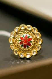 bridal gold ring kundan ring bridal ring indian bridal jewellery jewelry