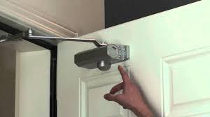 Dorma Overhead Door Closer by Adjusting Your Door Closer Youtube