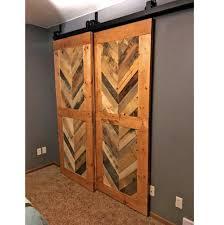reclaimed wood chevron barn door laelee designs