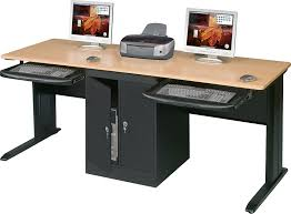 computer table amazon com balt lx 72 double workstation 72 inch wide locking