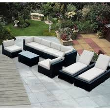 Ohana Depot  Piece Wicker Patio Furniture And Chaise Lounge Set - Outdoor furniture set