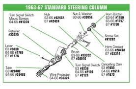 c2 corvette parts corvette parts c2 1963 1967 standart steering coumn