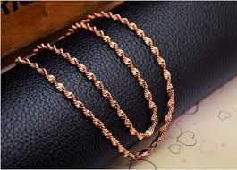 rose gold necklace womens images Classic 18k rose gold filled girls womens hollow twisted singapore jpg