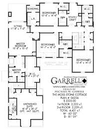 moss stone cottage house plan plans by garrell associates