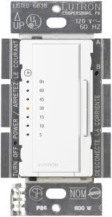 Westek 60 Min In Wall by Lutron Ma T51 Wh Maestro Countdown Timer White Wall Timer