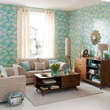 Decorating With Wallpaper by Living Room Decorative Floral Wallpaper For Eclectic Living Room