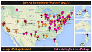 Map Of Colorado And Wyoming by Ferocious Fighters Impact Map As Of 12 23 15 Ferocious Fighters