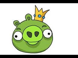 draw angry birds pig king pig