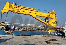 Pedestal Crane China Long Range Telescopic Boom Marine Crane Pedestal Crane