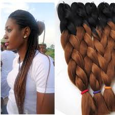 ombre crochet braids wholesale kanekalon ombre synthetic braiding hair 24inch 100g