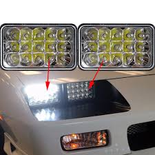 2007 kenworth t600 for sale in canada 2pcs 4x6 led headlights cree sealed beam replace bulb kenworth