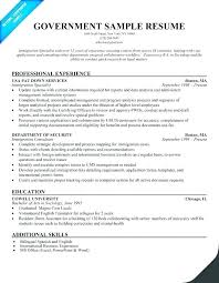 government resume exles federal government resume exle