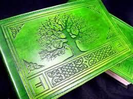 a5 handmade leather journal sketchbook celtic oak tree wicca