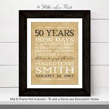 50th anniversary gift ideas for parents 50th anniversary gift ideas 50 year anniversary gift for
