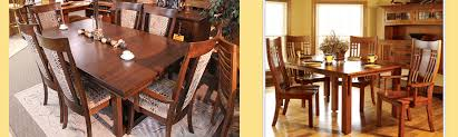 Amish Dining Room Furniture Amish Custom Furniture And Accents Amish Dining Room Furniture