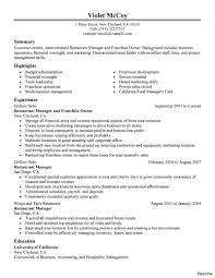 resume exles objective sales revenue equation cost resumes for fast food resume workers managers exles of