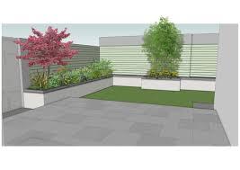 Family Garden Design Ideas Design Detail Of Raised Granite Patio Area With Granite Capped