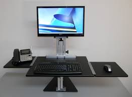 Adjustable Height Computer Desk Workstation by Ergo Desktop Kangaroo Pro Junior