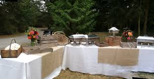 Buffet Set Up by Rustic Buffet Station By Whidbeypartygirls Events On Whidbey