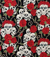 Tattoo Bedding Alexander Henry Cotton Fabric The Rose Tattoo Blk Brite Joann