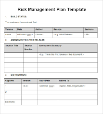 risk plan risk management project risk and change management