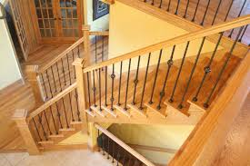 interior wooden railing stairs for lovely home natural