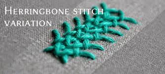 Fish Bone Stitch Embroidery Tutorials The Herringbone Stitch Days Pumora