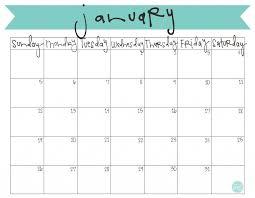 january 2017 calendar printable template calendar pinterest