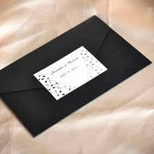 pocket invites affordable black and white pocket wedding invitation cards ewpi025