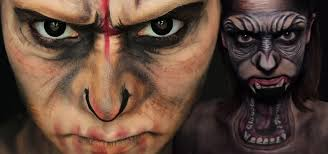 dawn of the planet of the apes halloween makeup guides diy caesar