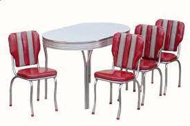 Red Kitchen Table And Chairs Retro Red Kitchen Chairs Interior U0026 Exterior Doors