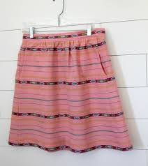 the everyday skirt in anna maria horner loominous fabric