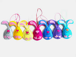 easter ornaments felt easter decorations easter ornaments easter bunny decorations