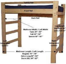 How To Build A Bunk Bed Frame Loft Bed Frame Robinsuites Co