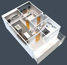 One Bedroom House Plan by Modern One Bedroom House