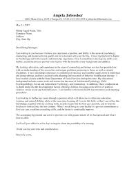 cover letter for science internship psychology cover letter templates