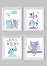 Purple Nursery Decor Owl Nursery Decor Aqua And Purple Baby Room Decor Owl Baby