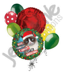 grumpy cat merry balloon bouquet jeckaroonie balloons