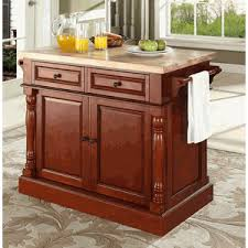 cherry kitchen island butcher block top cherry finish kitchen island