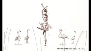 how to make a sketch ballerina surreal with fountain pen youtube