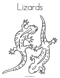 lizards coloring twisty noodle