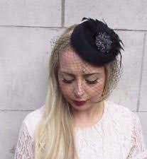 funeral veil womens black netted veil funeral pillbox mourning grieving widow