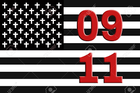 Red White Striped Flag Black And White Striped Flag With White Crosses On A Black